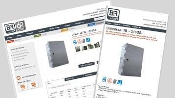B&R Enclosures websites